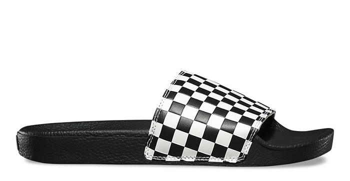 c11fafd0c03 Vans Checkerboard Slide-On White