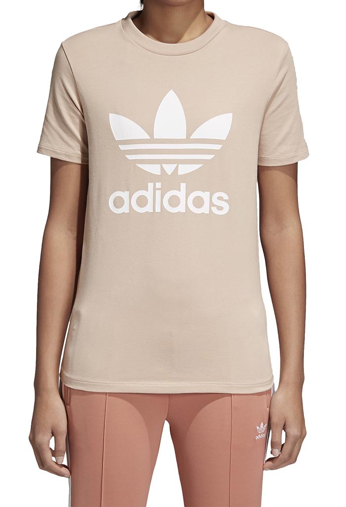 62f9421a4d06d Adidas Womens Trefoil Tee Ash Pearl   White - Boardvillage