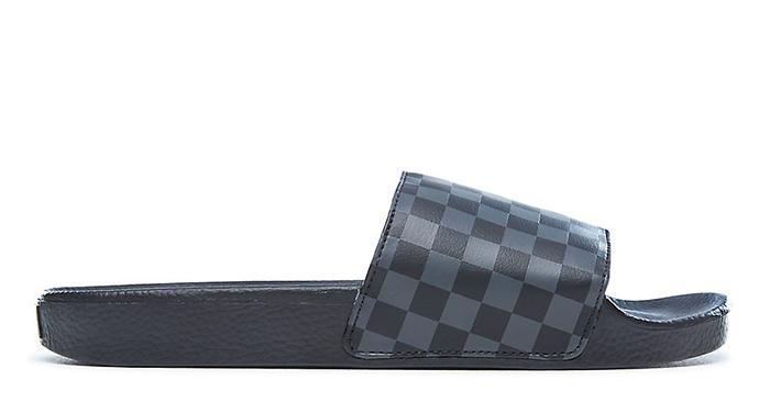 6d3a6f6c526 Vans Checkerboard Slide-On Black   Asphalt - Boardvillage