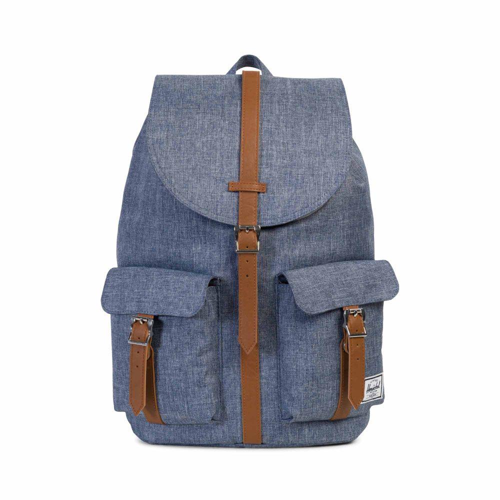 e4a66a14100 Herschel Dawson Backpack Dark Chambray   Crosshatch   Tan ...
