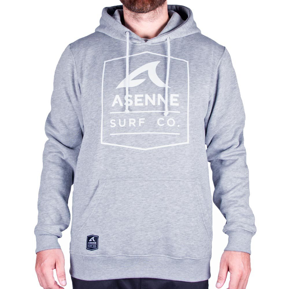 Asenne Surf Co. Hoodie Grey / White