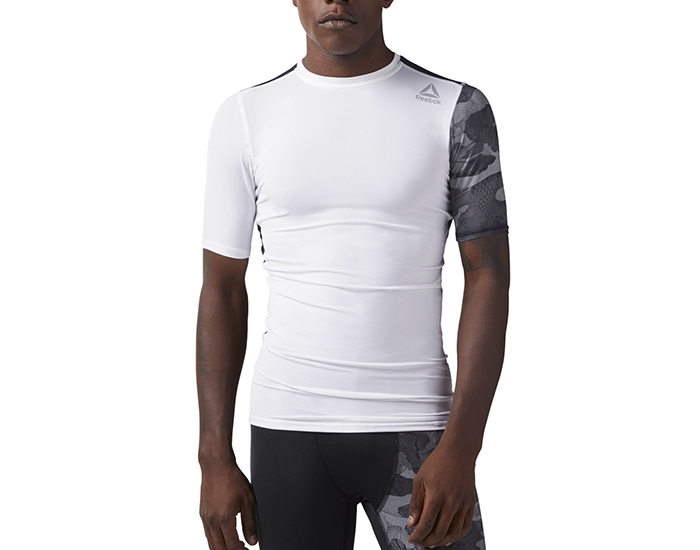 Reebok Activchill Graphic Compression Tee White