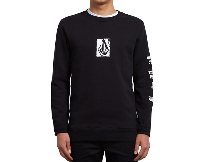 Volcom Supply Stone Crew Sweatshirt Black