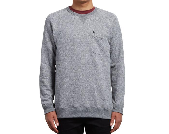 Volcom Shelden Crew Sweatshirt Grey