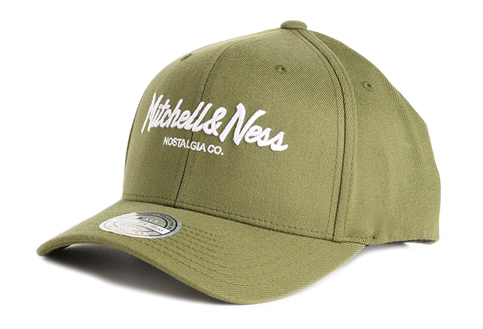 96d297b9a23aa Mitchell   Ness Pinscript High Crown 110 Snapback Olive - Boardvillage