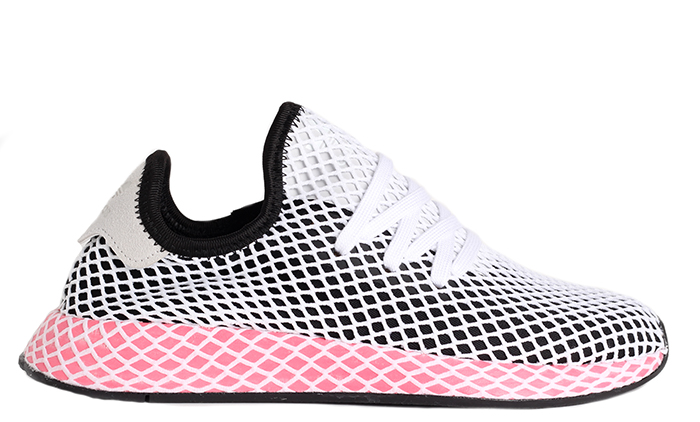 9fc82ea3cd397 Adidas Womens Deerupt Runner Core Black   Chalk Pink - Boardvillage