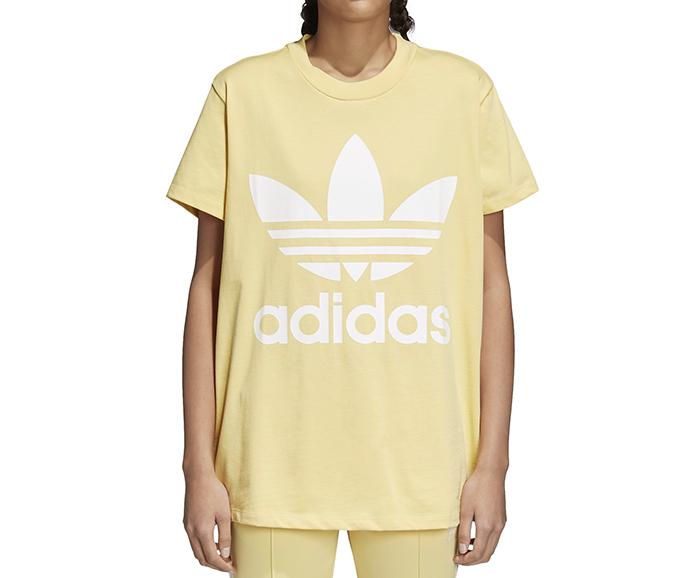 169bd5a1de9b9 Adidas Womens Trefoil Oversize Tee Sand - Boardvillage
