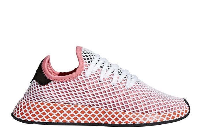 Adidas Womens Deerupt Runner Chalk Pink / Bold Orange