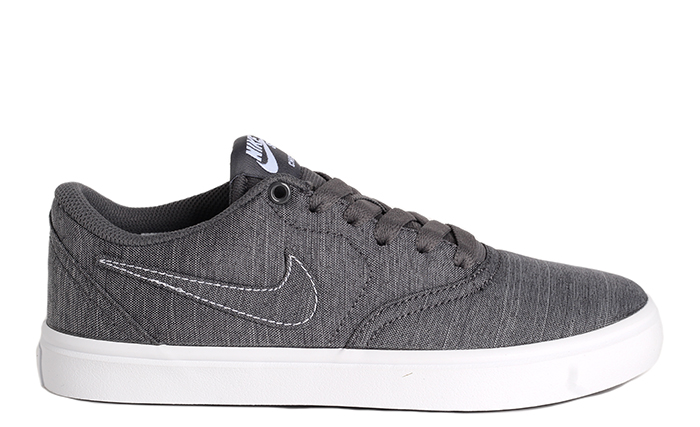 792d6a492292 Nike SB Womens Check Solarsoft Canvas Premium Dark Grey   White ...