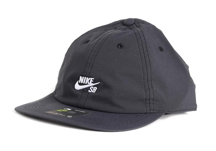 c1cc6d3b148ec Nike SB H86 Cap Flat Black   White - Boardvillage