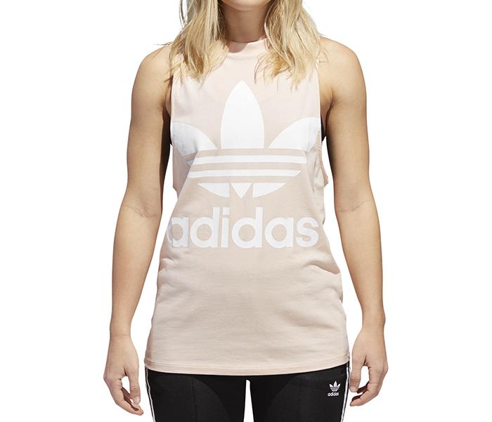 764bfc1c955bc Adidas Womens Trefoil Tank Top Blush Pink - Boardvillage