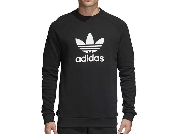 Adidas Trefoil Warm-Up Crew Sweatshirt Black