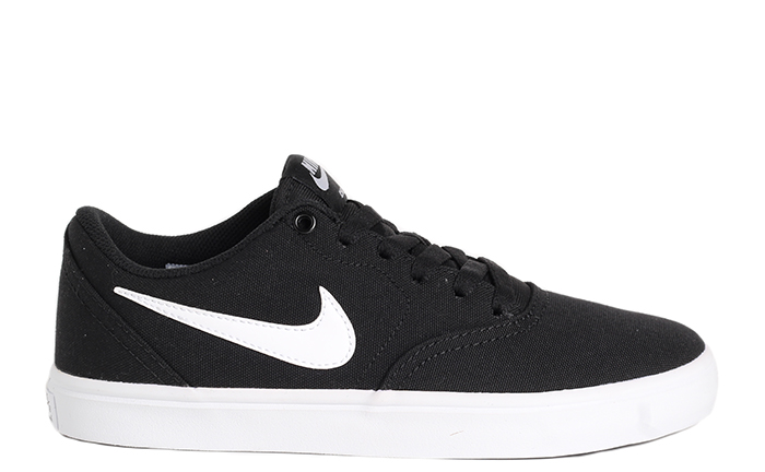 01a29bc7f151 Nike SB Womens Check Solarsoft Canvas Black   White - Pure Platinum