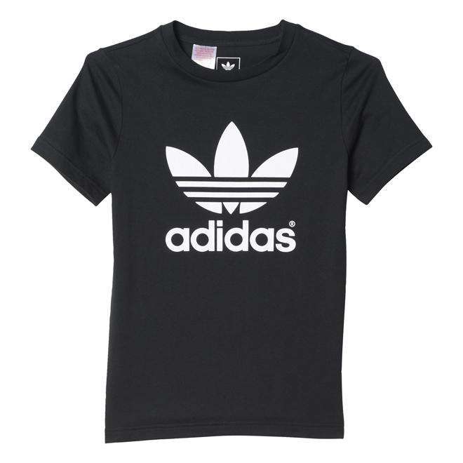 Adidas Junior Trefoil Tee Black / White