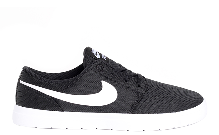 9239b8a40484 Nike SB Portmore II Ultralight Youth Black   White - Boardvillage
