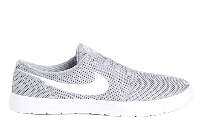 Nike Sb Portmore Ii Ultralight Wolf Grey White
