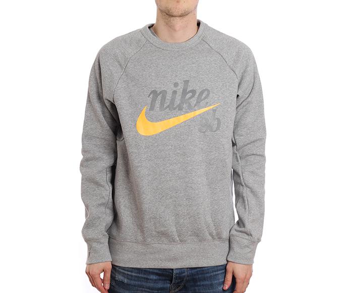 b4603fc8a690 Frontpage Men s Clothing Sweatshirts   Longsleeves. ◁. ▷. Nike SB Icon Crew  GFX Dark Grey Heather   Laser Orange