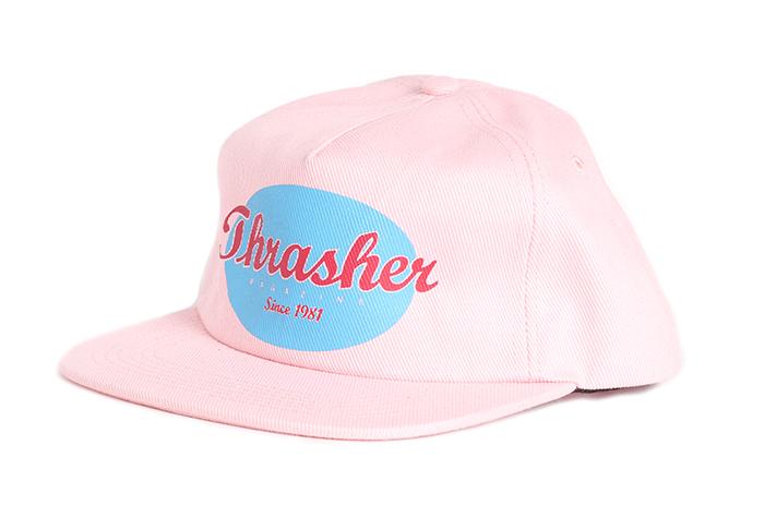 Thrasher Oval Snapback Pink