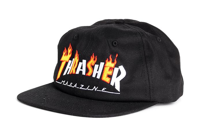 cdc489f8189 Thrasher Flame Mag Snapback Black - Boardvillage