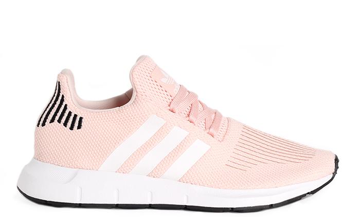 ... quality products 44ed2 22323 Adidas Womens Swift Run Icey Pink White  Core Black ... b92b502519