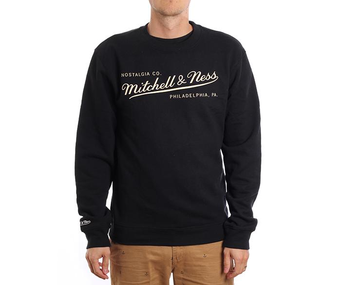 Mitchell & Ness Box Logo Crew Black