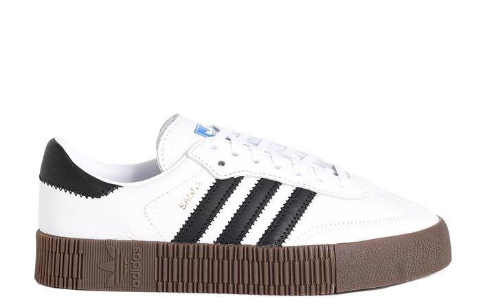 Scarpe Adidas sambarose w AQ1134 sneakers platform cloud white gum