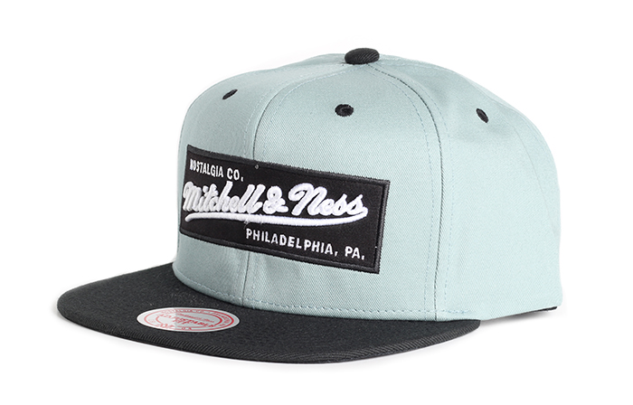 Mitchell & Ness Box Logo Snapback Aquifer / Black