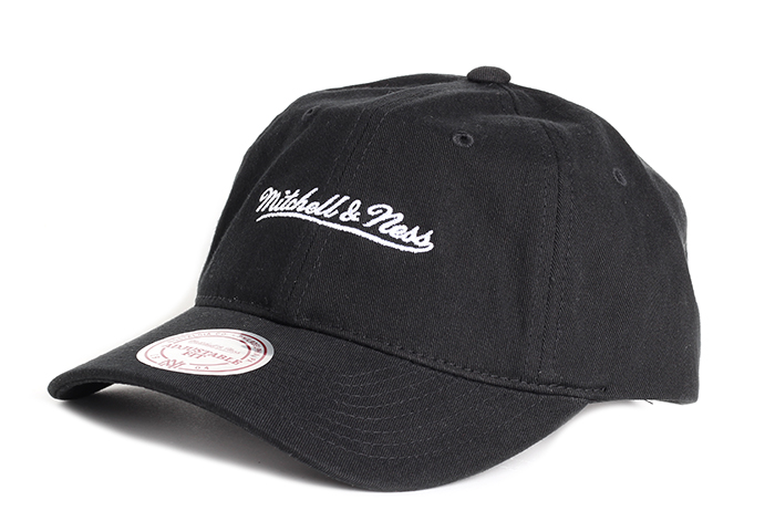 Mitchell & Ness Washed Cotton Dad Hat Black