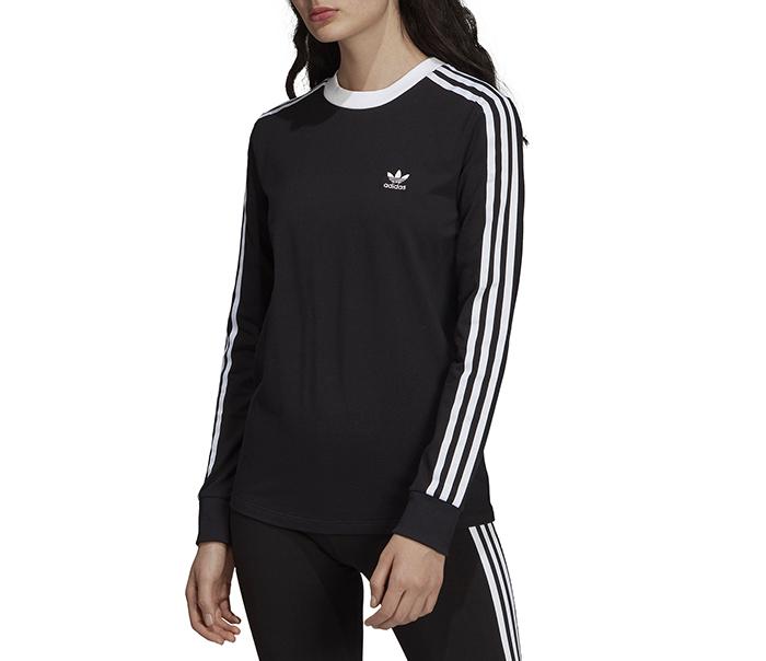 Adidas Womens 3 Stripes Longsleeve Black