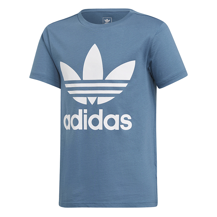 Adidas Junior Trefoil tee Blanch Blue / White