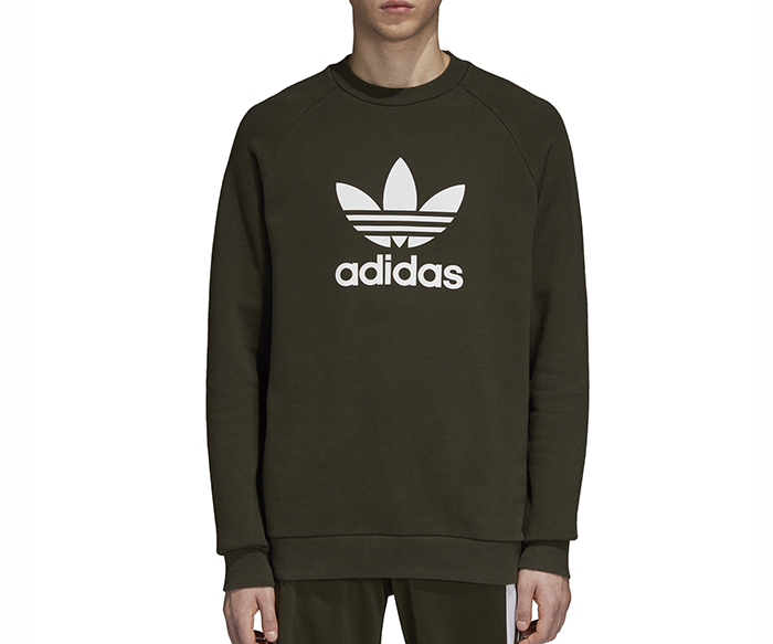 on sale 4599b e1b35 Adidas Originals Trefoil Sweatshirt Night Cargo