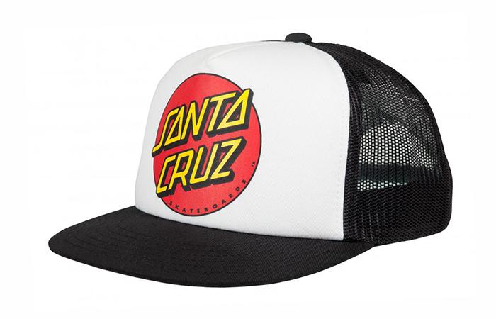 Santa Cruz Classic Dot Mesh Cap White / Black