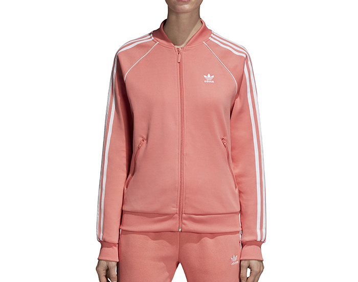 9e816f0e8cc9 Adidas Womens SST Track Jacket Tactile Rose - Boardvillage