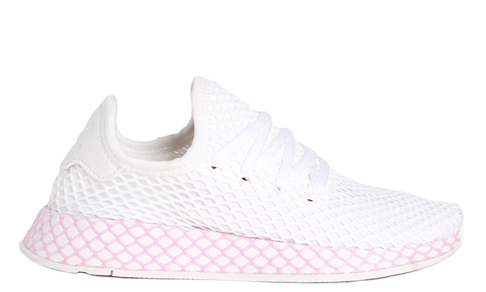 pretty nice 08598 bc374 Adidas Womens Deerupt White  White  Clear Lilac