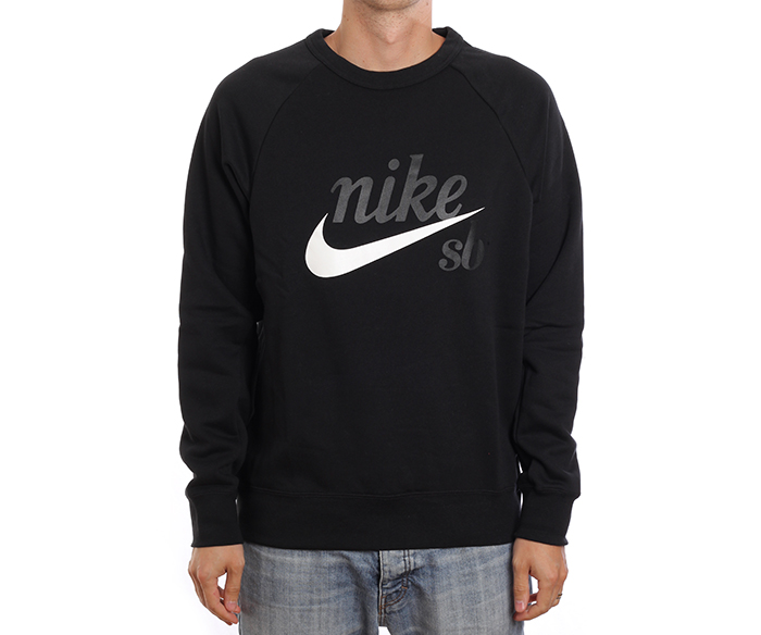 amazing selection famous brand superior quality Nike SB Icon Crew GFX Black / White - Boardvillage