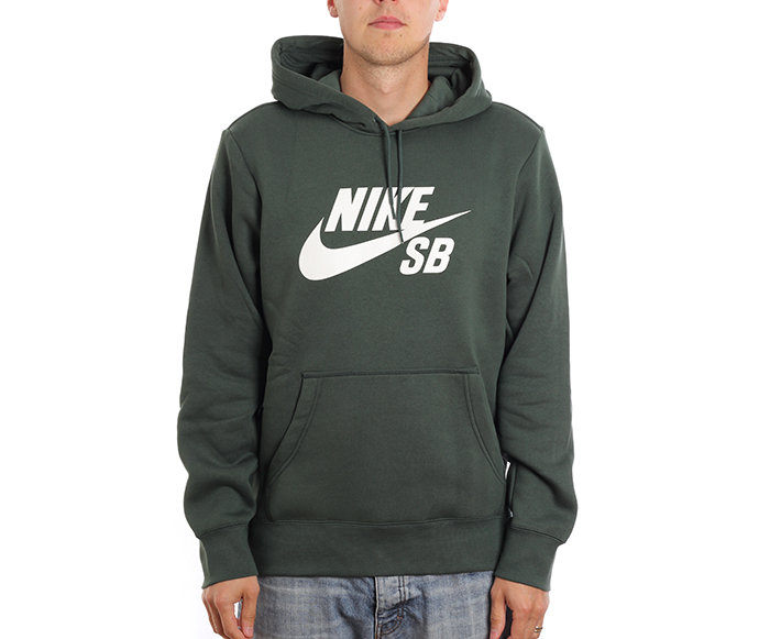 Nike SB Icon Hoodie Midnight Green / White