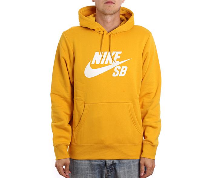 Nike SB Icon Hoodie Yellow Ochre / White