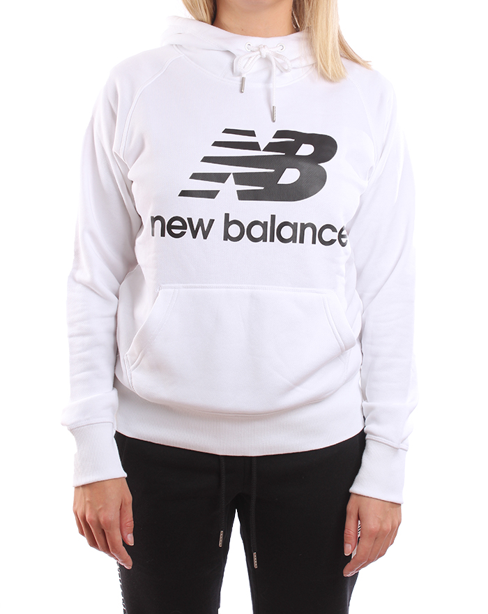 5a62fa078d New Balance Womens Essential Pullover Hoodie White - Boardvillage
