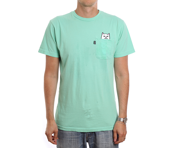 RIPNDIP Lord Nermal Pocket Tee Over Dyed Mint