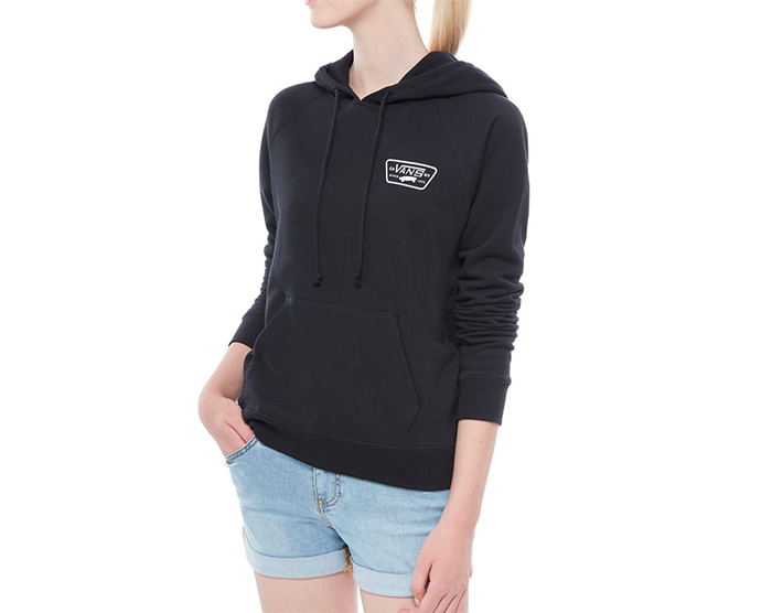 6eb9f30746 Vans Womens Full Patch Raglan Hoodie Black - Boardvillage