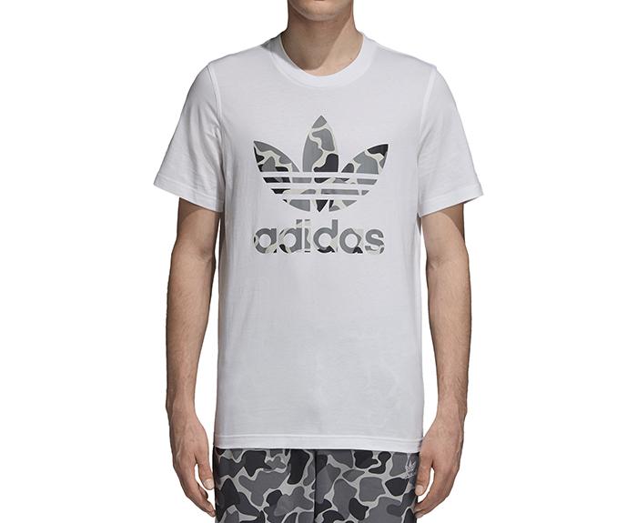 Adidas Originals Camouflage Trefoil Tee White