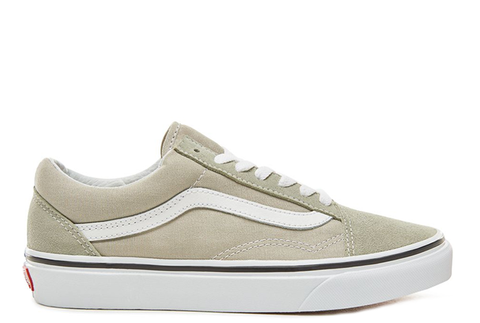 9b7c149a2b Vans Old Skool Desert Sage   True White - Boardvillage
