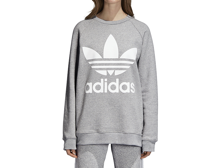 Adidas Womens Oversize Sweatshirt Medium Grey Heather