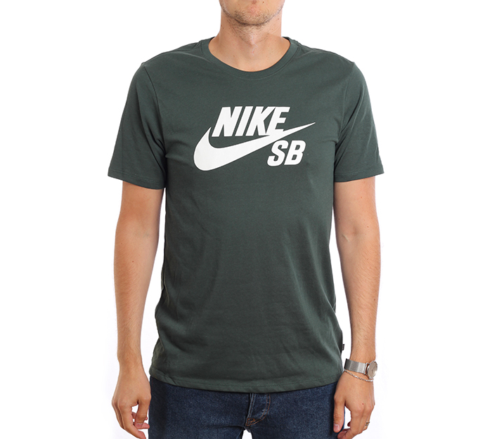 Nike SB Logo Tee Midnight Green / White