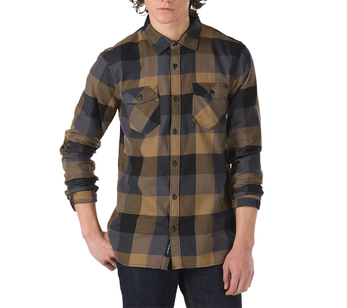 Vans Box Flannel Shirt Dirt / Black