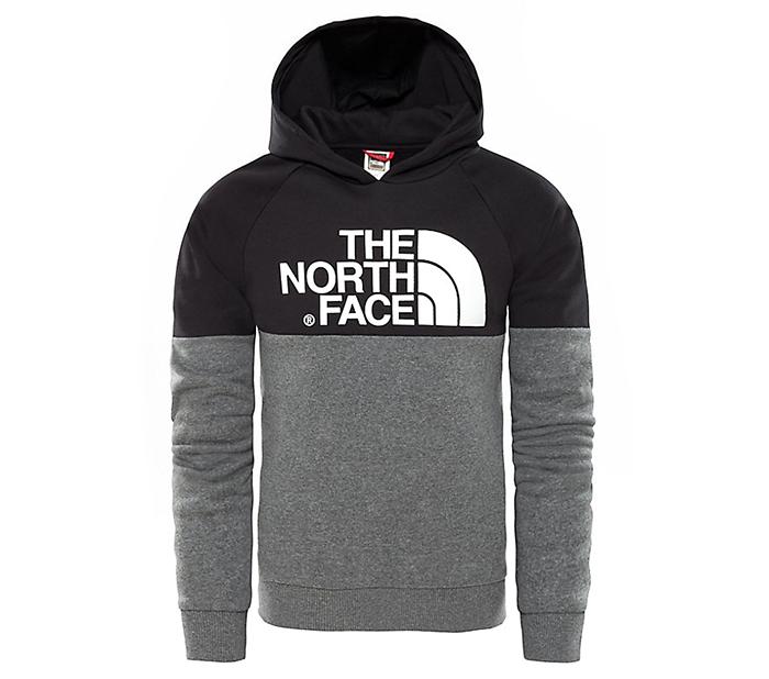 The North Face Youth Drew Peak Raglan Hoodie Black