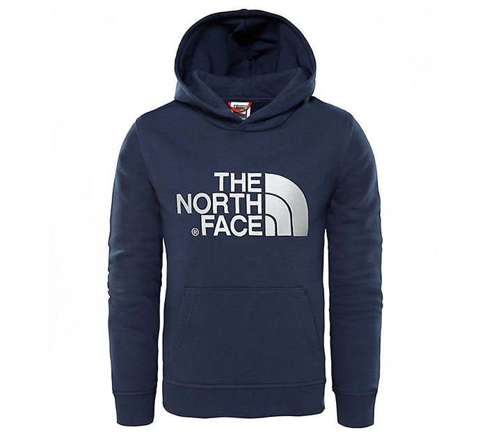 The North Face Youth Drew Peak Hoodie Cosmic Blue / High Rise Grey