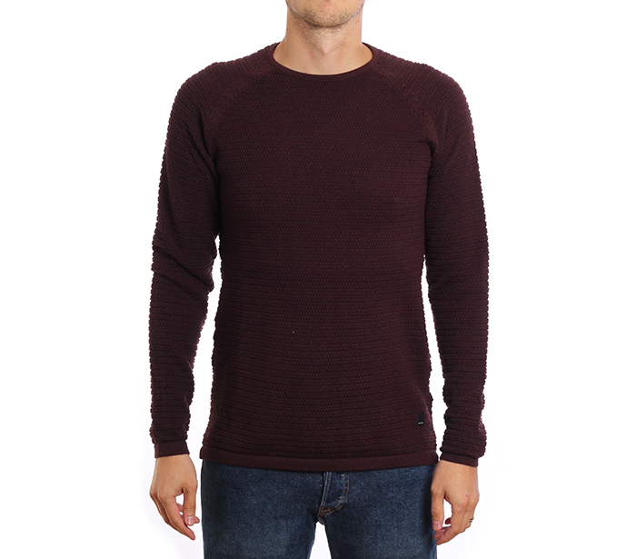 Gabba Larry O-Neck Knit Bordeaux Melange