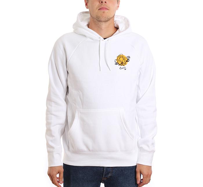 dfa97b2bbee9e Nike SB Icon Hoodie Floral White / Yellow Ochre - Boardvillage