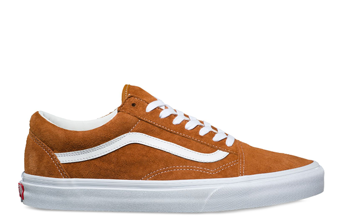 a603277e8e6 Vans Old Skool (Pig Suede) Leather Brown   True White - Boardvillage